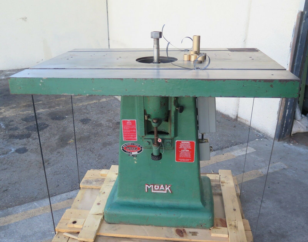 MOAK Machine Woodworking Shaper 7.5HP Baldor Motor Single Spindle