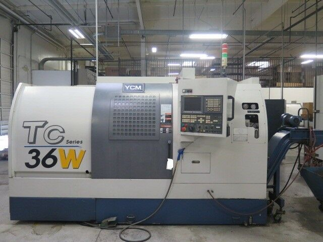 YCM TC-36W CNC Lathe Turning Center FANUC TXP-200E Control Low Hours Nice 2007