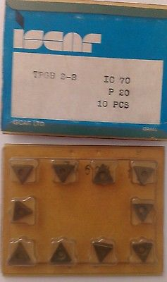 ISCAR TPGB 2-2 IC 70 P 20 Carbide Inserts 10 Pcs Lathe Turning New Mill Tools