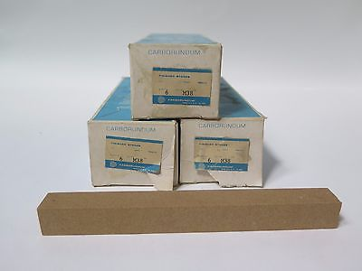 "Carborundum 5/8 x 6"" Combination Knife Sharpening Stones M38 Qty 18 Brand New"