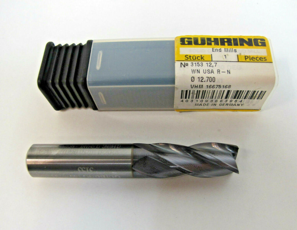 NEW GUHRING Solid Carbide End Mill 1/2 x 1/2 x 1 Firex Coated 4 Flute