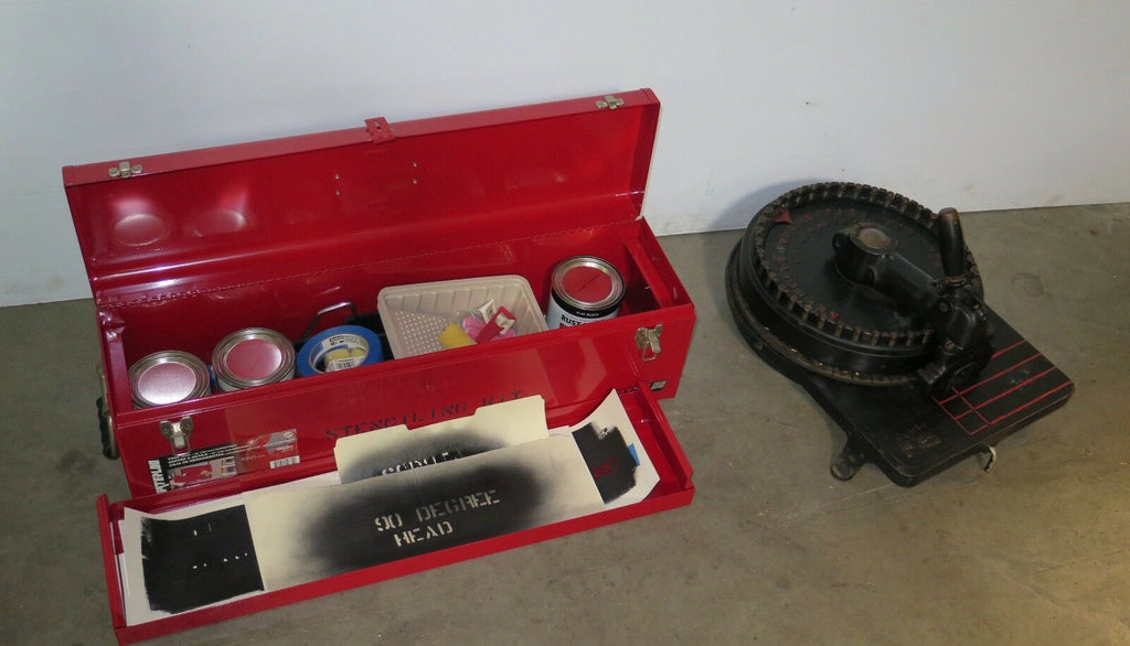Rare Vintage Diagraph Stencil Cutting Machine with Stenciling Kit and Manual