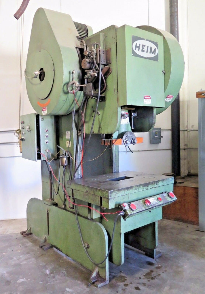 HEIM 120 Ton Model 12A.OBI.B.G. Back Geared O.B.I. Press Jaco Devices Uncoiler