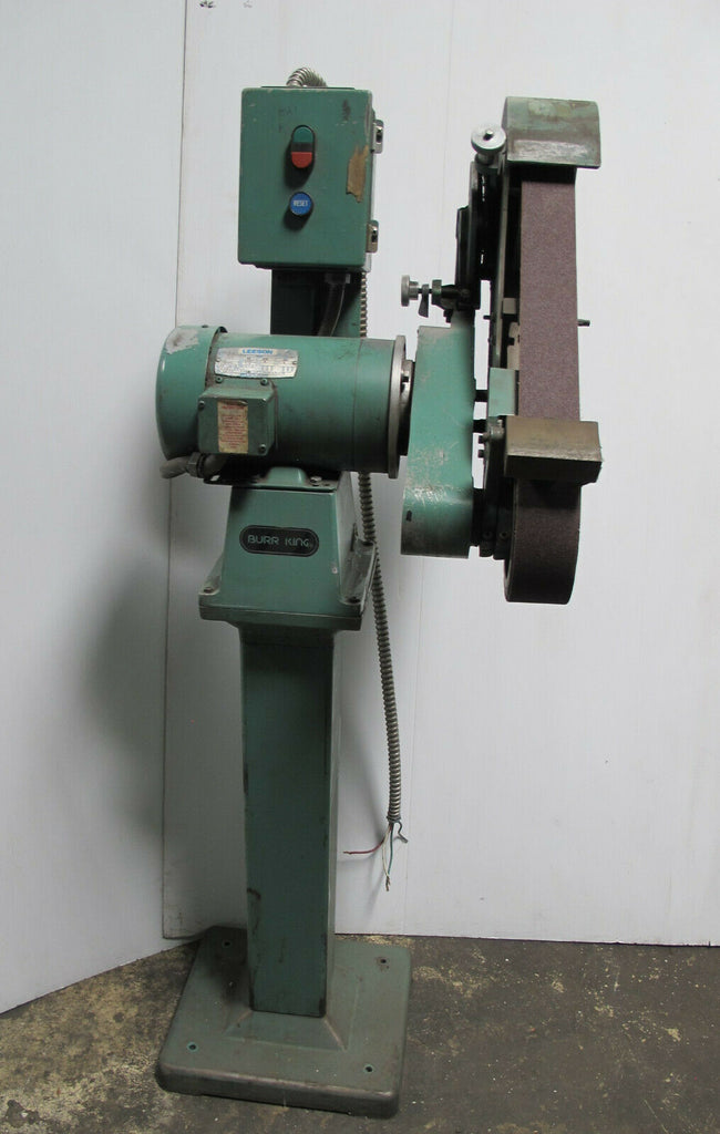 "Burr King 2 1/2"" x 60"" On Stand 3 Phase 3 HP Belt Sander W/ Extra Sanding Belts"