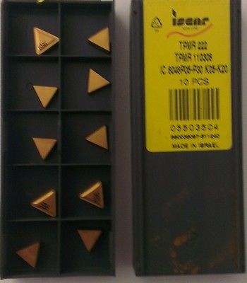 ISCAR TPMR 222 IC 8048 Carbide Inserts 10 Pcs Lathe Turning Mill Tools New Gold