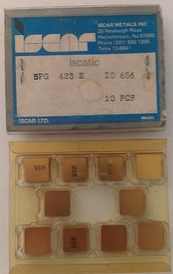 ISCAR ISCATIC SPG 423 E IC 656 Carbide 10 Inserts Lathe Turning Mill Tools Gold