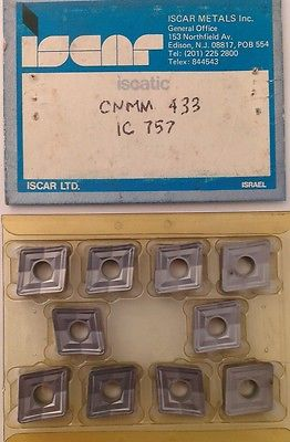 ISCAR Iscatic CNMM 433 IC 757 Carbide Inserts 10 Pcs Lathe Turning Mill Tools