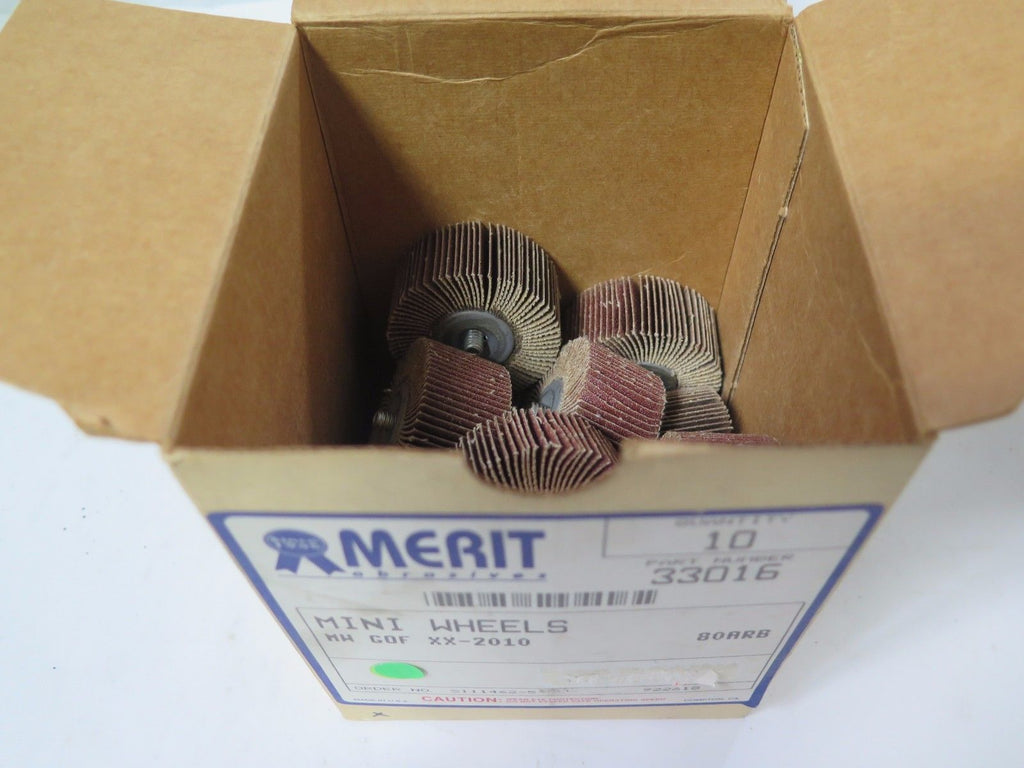 10 Pcs MERIT Abrasives Mini Wheel 33016 MW GOF XX-2010 80 ARB Brand New