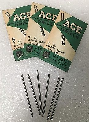 Lot of 30 High Speed Steel Reamer Blanks Series 3/32 ACE Drills Made in USA