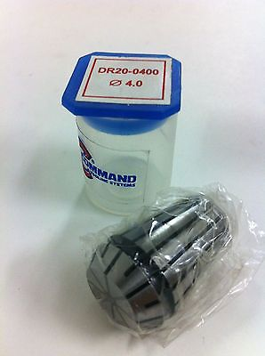 Command Tooling Systems ER20 DR20 0400 .12 Inch / 4.0 mm Collet for Mill New