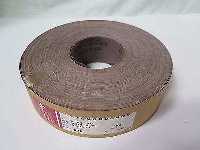 "Carborundum A/O Resin Cloth 2"" x 50yds 77696005405 Grit 320 Spec: XC0877 New"