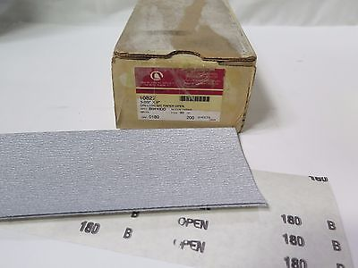 "Carborundum Abrasives 3 2/3"" x 9"" S/C Dri-Lube Cut Paper Open 180 Grit 10827 New"