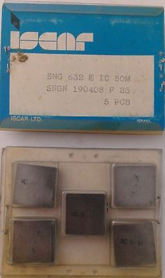 ISCAR SNG 632 E IC 50M P25 190408 Carbide Inserts 5 Pcs Lathe Tools Mill New