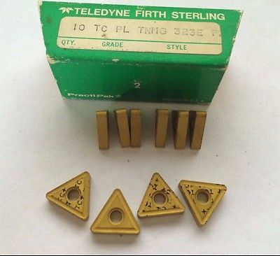 Teledyne Firth Sterling TC PL TNMG 323 E PM Lathe Carbide Inserts 10 Pcs Gold