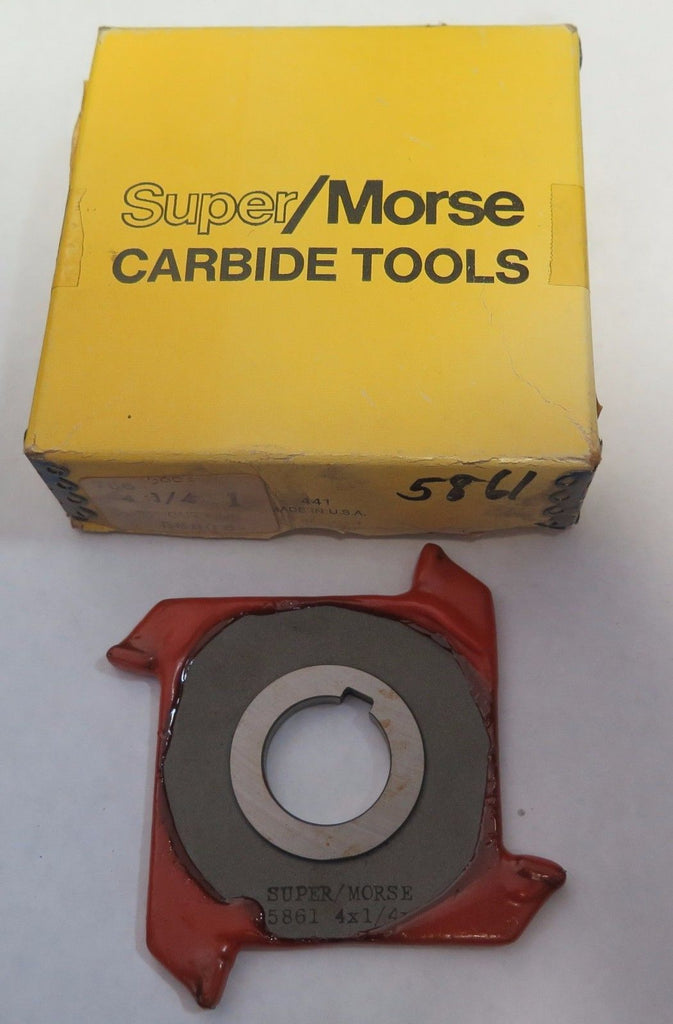 Super/Morse Carbide Tools 4 X 1/4 X 1 C.T. Cutter Carbide tips 5861 Mill