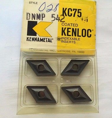 KENNAMETAL KENLOC Indexable DNMP 542 KC 75 Lathe Carbide 4 Inserts Mill Cut-Off
