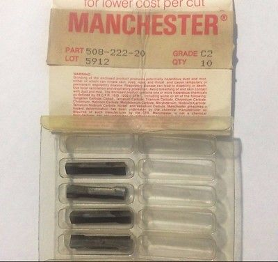 MANCHESTER 508 222 29 C2 5912 Grooving Lathe Carbide Inserts 4 Pcs New Tools