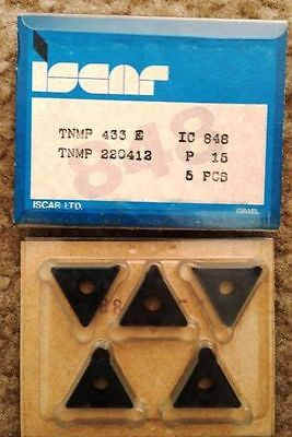 ISCAR TNMP 433 E 220412 IC 848 Carbide Inserts 5 Pcs Lathe Turning Mill Tool New