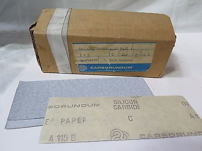 "Carborundum Abrasives 3 x 8"" Dri-Lube Paper Grit 240 Qty 400 Sheets Brand New"