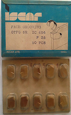 ISCAR GTFG 5R IC 656 Carbide Inserts Face Grooving 10Pcs Lathe Self Grip Cut-Off