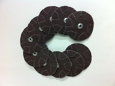 "10 Overlap Slotted Discs 3 1/4"" Diameter 60 Grit Merit Abrasive Products Inc"