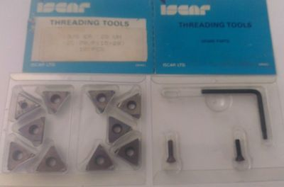 ISCAR Threading Tool 3/8 ER 28 UN IC 70 Carbide Inserts 10 Pcs Thread Lathe New