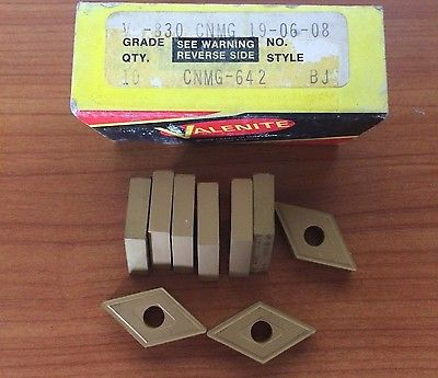 9 Pcs Valenite CNMG 642 VC 830 19 06 08 BJ Lathe Carbide Inserts New Tools Gold