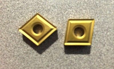 MITSUBISHI CNMG 432MS US735 120408 Lathe Carbide Inserts 2 Pcs New Gold Tools