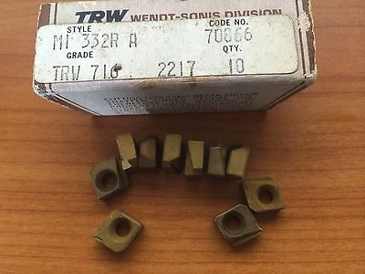 10 Pcs TRW M1332 R-A 716 247 70866 2217 Lathe Carbide Inserts Cutting Tools Gold