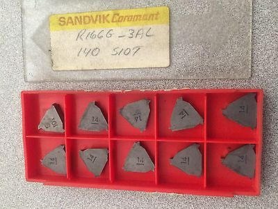 SANDVIK Coromant L166G 3AL 140 S107 Threading Lathe Carbide Inserts New 10 Pcs