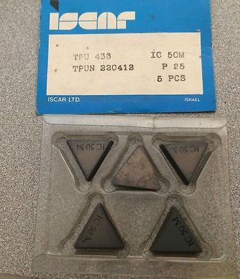 ISCAR TPU 433 220412 IC 50M P 25 Carbide Inserts 5 Pcs Lathe Mill Turning New