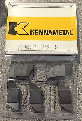 KENNAMETAL NG-4250R K45 N Lathe Carbide Inserts 5 Pcs Grooving Cut-Off Tools New