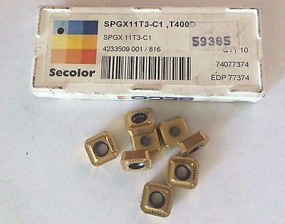 8 Pcs Seco SPGX 11T3 C1 T400D Secolor Lathe Carbide Inserts Tools New Gold
