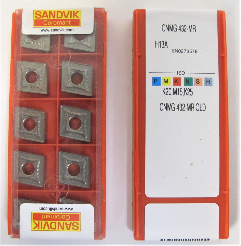 Lot of (20) Brand New SANDVIK CNMG 432 - MR Carbide Inserts (2 Packs)  Free Ship