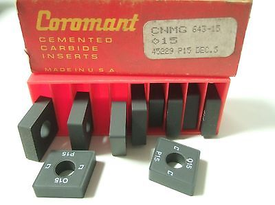 SANDVIK Coromant CNMG 643 15 015 45229 P15 Lathe Mill Carbide Inserts 10 Pc New