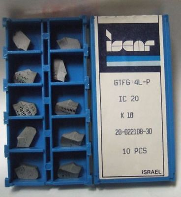 ISCAR GTFG 4L-P IC20 Carbide Inserts Grooving 10 Pcs Lathe Self Grip Cut-Off New