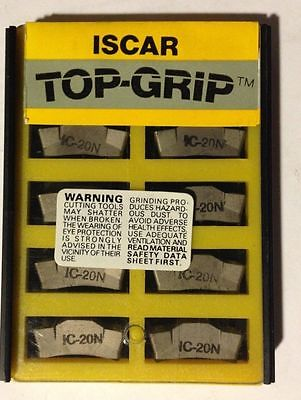 ISCAR TGMF 608 IC 20N Top Grip Carbide Inserts Grooving 10 Pcs Lathe Cut-Off New