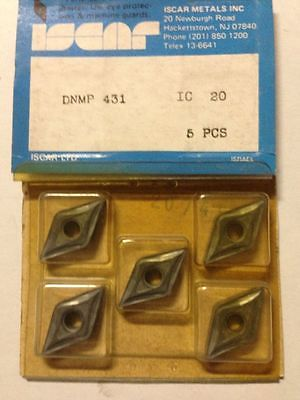 ISCAR DNMP 431 IC 20 Carbide Inserts 5 Pcs NEW Mill Lathe Turning Tools