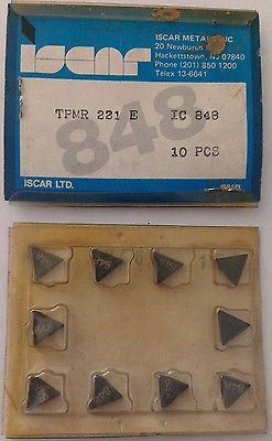 ISCAR TPMR 221 E IC 848 Carbide Inserts 10 Pcs Lathe Turning Mill Tools New