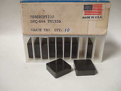 SNC 644 T01530 GRADE TBH Lathe Mill Carbide Inserts 10 Pcs New Tools