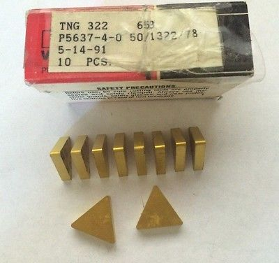 10 Pcs Fansteel Brand New Carbide Indexable Inserts TNG 322 653 Tools Gold