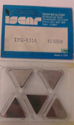 ISCAR TPG 431A IC 50M Carbide Inserts 5 Pcs Lathe Turning New Mill Tools