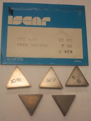 ISCAR TPU 431 220404 IC 50M P 25 Carbide Inserts 5 Pcs Lathe Mill Turning Tools