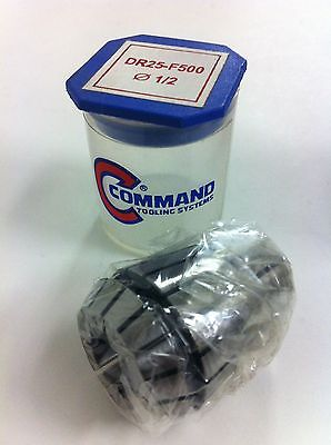 Command Tooling Systems ER25 DR25 F500 .5 inch / 12.7 mm Collet for Mill New