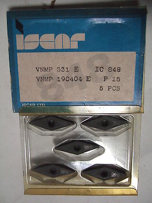 ISCAR VNMP 331 E IC 848 190404 E P15 Carbide Inserts 5 Pcs Lathe Tools Mill Turn