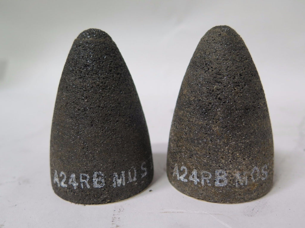 Lot of 2 Spedecut Abrasive Cones 2 x 3 x 5/8-11 A24RB Type 16 New Made In USA