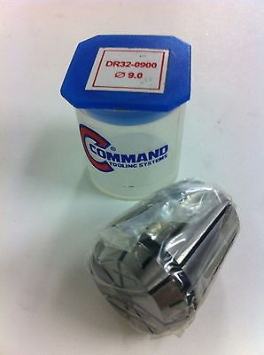 Command Tooling Systems ER32 DR32 0900 .354 inch / 9.0 mm Collet for Mill New
