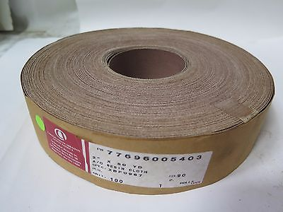 "Carborundum A/O Resin Cloth 2"" x 50yds 77696005403 Grit 100 Brand New"