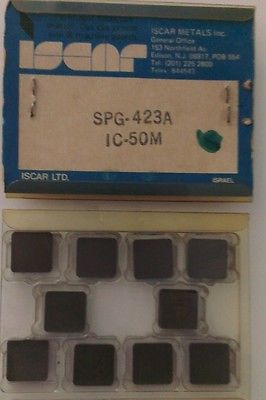 ISCAR SPG 423A IC 50M Carbide Inserts 10 Pcs Lathe Turning New Mill Tools