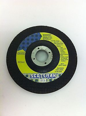 "Scotsman SCT 103 1 Grinding Wheel Disc 5"" Dia 1/4"" Depth 7/8"" Arbor 10,850 RPM"